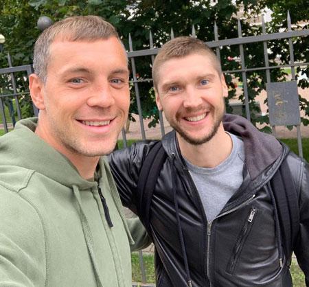 Артем Дзюба и Сергей Бобровский